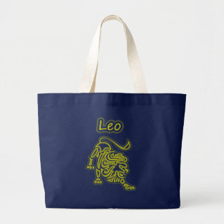 Bright Leo Large Tote Bag
