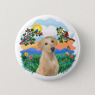Bright Life - Yellow Labrador 6 Cm Round Badge