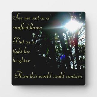 Bright Light Commemorative Plaque