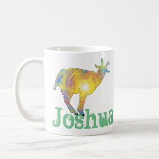 Bright light goat on things, change to your name coffee mug