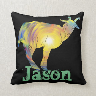 Bright light goat on things, change to your name cushion