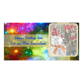 Bright Lights And Ornaments Photo Holiday Card Picture Card