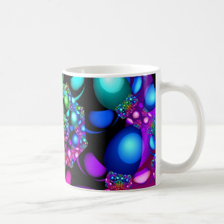 Bright Lights Fractal Basic White Mug