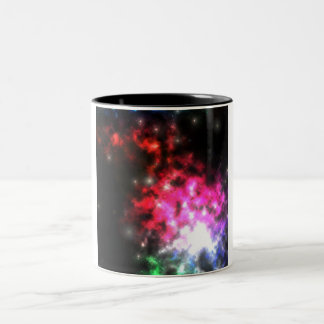 Bright Lights of Space Two-Tone Mug