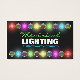 Bright Lights Theatrical Lighting Business Cards
