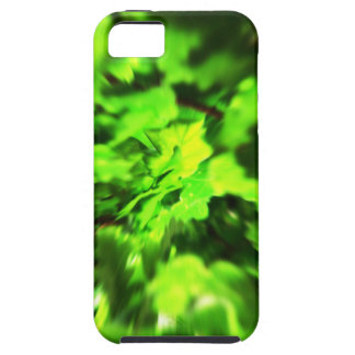 Bright Lime Green and Dark Green Abstract. Case For The iPhone 5