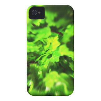 Bright Lime Green and Dark Green Abstract. Case-Mate iPhone 4 Case
