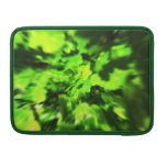 Bright Lime Green and Dark Green Abstract. MacBook Pro Sleeve