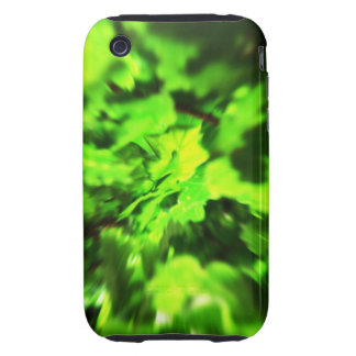 Bright Lime Green and Dark Green Abstract. Tough iPhone 3 Covers