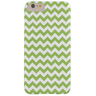 Bright Lime Green and White zigzag Chevron Barely There iPhone 6 Plus Case