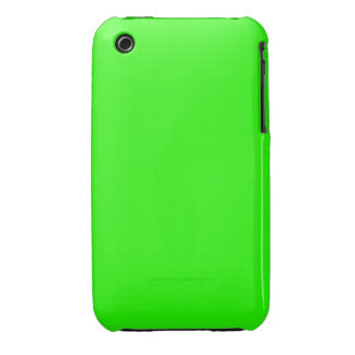 Bright Lime Green Color iPhone 3 Cases