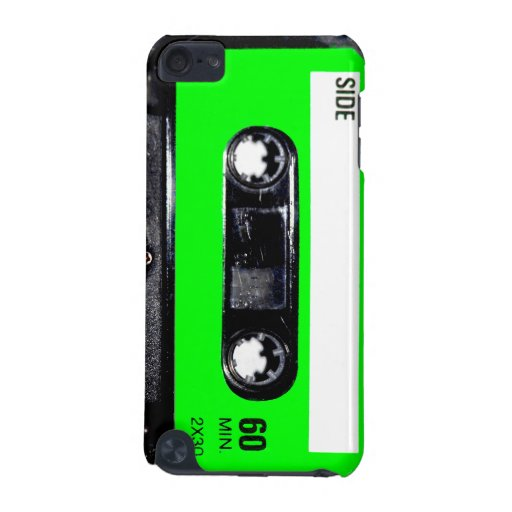 Bright Lime Green Label Cassette iPod Touch (5th Generation) Case