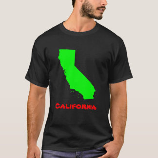 Bright Lime Green Personalized California T-Shirt
