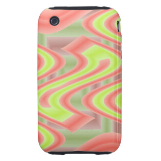 bright lime green pink tough iPhone 3 case