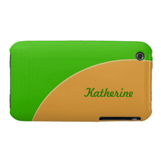 Bright lime green yellow mod retro Case-Mate iPhone 3 cases