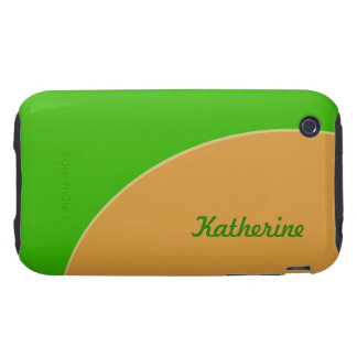 Bright lime green yellow mod retro tough iPhone 3 cover