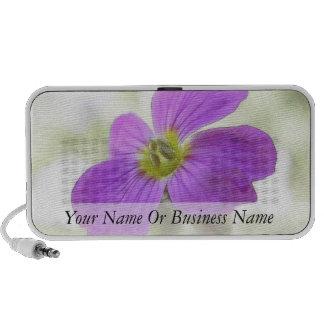 Bright Magenta Rock Cress Flower Portable Speakers