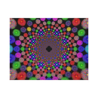 Bright Mandala Gallery Wrapped Canvas