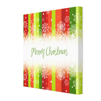 Bright Merry Christmas Holiday Design Stretched Canvas Prints