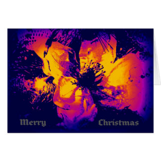 Bright, modern Christmas card with thermal colours
