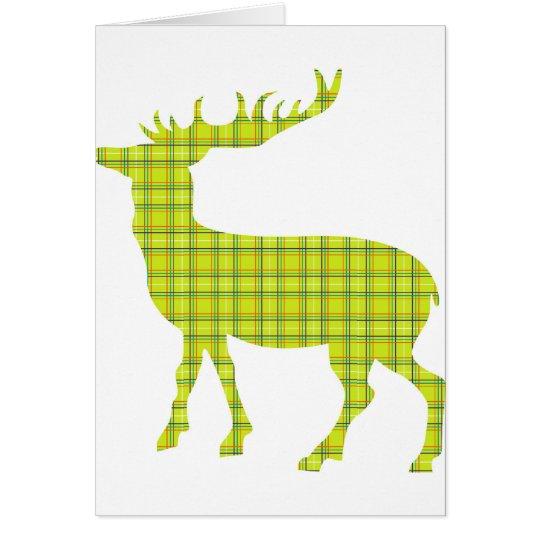 Bright modern deer card