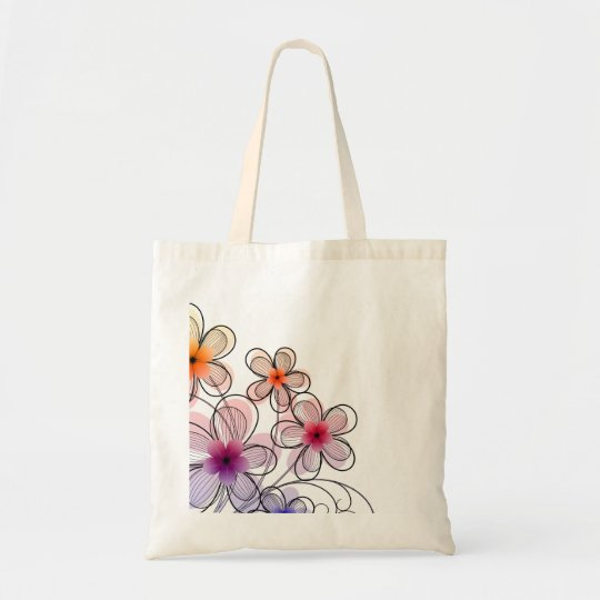 Bright Modern Flowers Tote Bag
