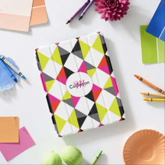 Bright Modern Geometric Pattern Personalized iPad Cover