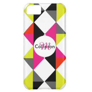 Bright Modern Geometric Pattern Personalized iPhone 5C Case