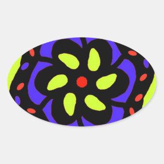 bright modern original art oval sticker