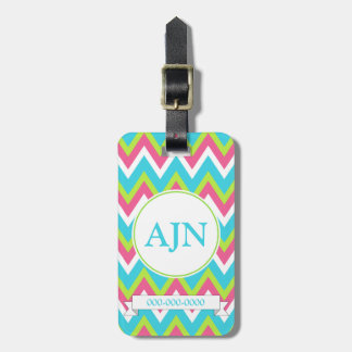 Bright Monogram Luggage Tag