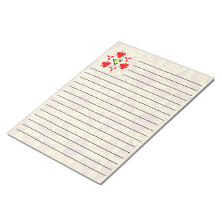 Bright mosaic colored pattern notepad