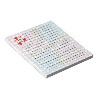 Bright mosaic pattern notepad