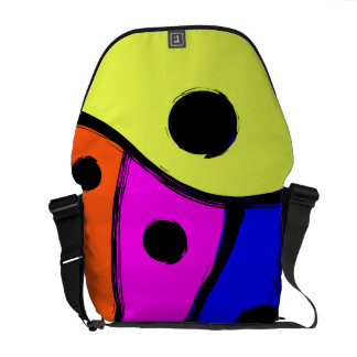 Bright Multi colored Abstract design Commuter Bag