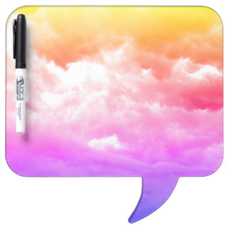 Bright Multi-Colored Cloud Dry Erase Board