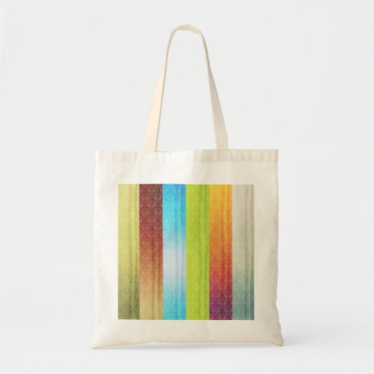 Bright Multi Coloured Stripes Tote Bag