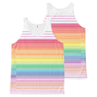 bright multi horizontal stripe vest top