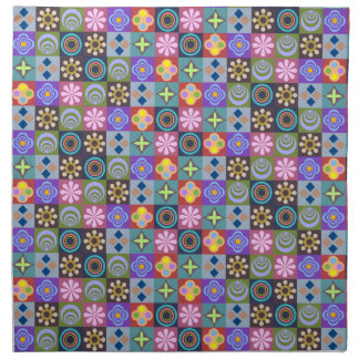 Bright Multicolored Patchwork Pattern Napkin