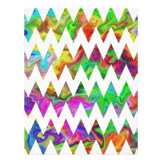 Bright Multicolored Zigzags. Personalized Flyer
