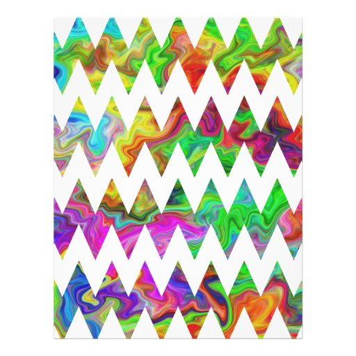 Bright Multicolored Zigzags. Personalized Flyer