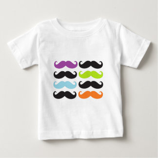 Bright Mustaches Baby T-Shirt