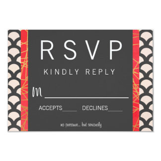 Bright N Beautiful Wedding RSVP 9 Cm X 13 Cm Invitation Card