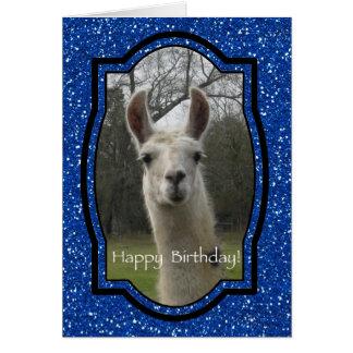 Bright N Sparkling Llama Birthday Greetings Card