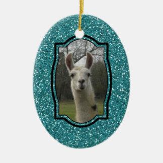 Bright N Sparkling Llama Christmas Tree Ornament