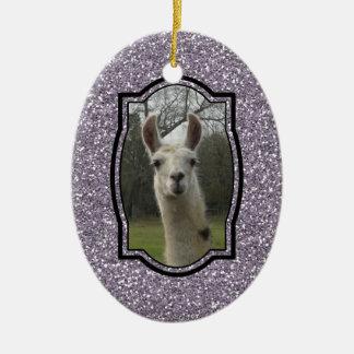 Bright N Sparkling Llama Christmas Ornament