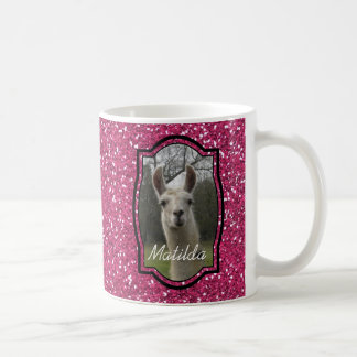 Bright N Sparkling Llama in Hot Pink Coffee Mug