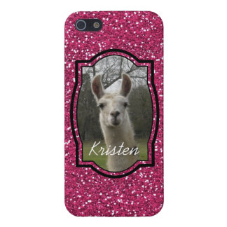 Bright N Sparkling Llama in Hot Pink iPhone 5/5S Covers