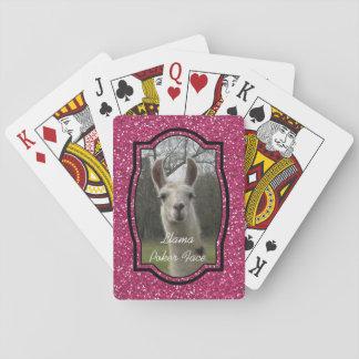 Bright N Sparkling Llama in Hot Pink Poker Deck