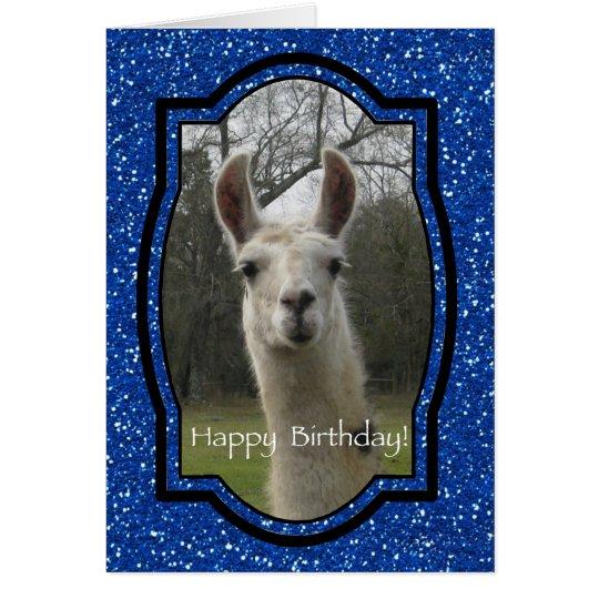 Bright N Sparkling Llama in Royal Blue Card