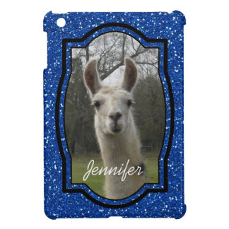 Bright N Sparkling Llama in Royal Blue Cover For The iPad Mini