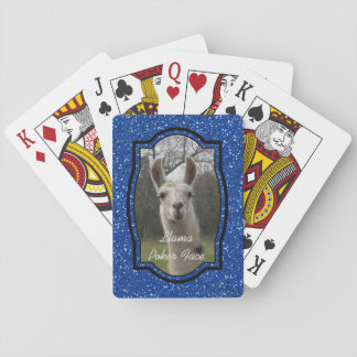 Bright N Sparkling Llama in Royal Blue Playing Cards